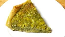 Quick Pesto Quiche