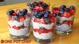 Chia Seed Mixed Berry Puddings