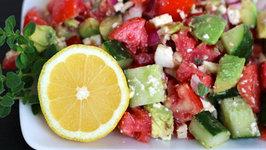 Salad - Tomato, Cucumber and Avocado Salad