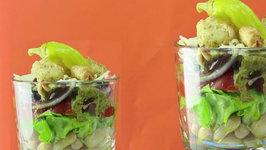 Healthy Seven Layer Italian Salad