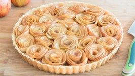 Caramel Apple Rose Tart