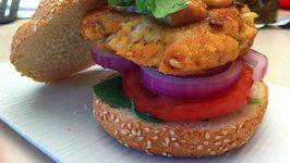 Chicken Satay Burgers
