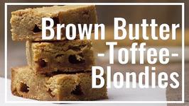Brown Butter Toffee Blondies