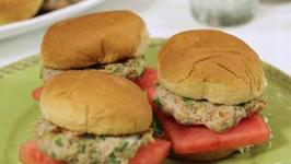 Red, White, And Blue Cheese Sliders With Watermelon