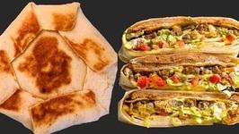 Homemade Taco Crunch Wrap Supreme - Vegetarian