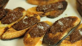 Chocolate Sea Salt Crostini - Savory Chocolate Appetizer - Summer Holiday Entertaining