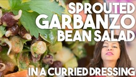 Sprouted GARBANZO BEAN Salad - Healthy Recipe