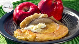 How To Make Apple Pancakes With An Iron At The Sea - Iron Cook