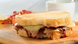 90 Second Peanut Butter And Jelly Grilled Cheese With Bacon