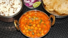Pressure Cooked Chole - Chana Masala - Chickpea Curry
