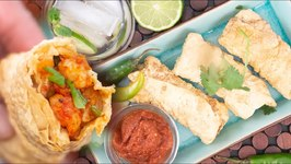 Stuffed Shrimp Papad - Gluten Free Appetizer