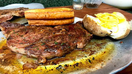 Sizzling Steak With Fresh Compound Butter - Steak Bed Review