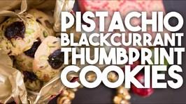 PISTACHIO AND BLACKCURRANT Thumprints