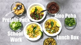 Protein Pack Aloo Poha Bowls School Work Lunch Box