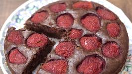 Chocolate Strawberry Cake Recipe - Homemade Strawberry And Chocolate Cake - Tarika