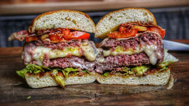 Three Cheese Burger - The Mother Of All Cheeseburger