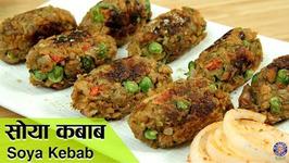 Soya Kebab / Healthy Soya Kababs / Veg Soya Kebab / Veg Kebabs Recipes Indian / Ruchi Bharani
