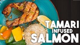 TAMARI Salmon - With Ginger, Lemon And Spring Onions