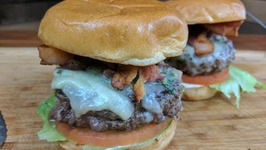 Bacon And Chive Butter Burger / The Best Damn Burger