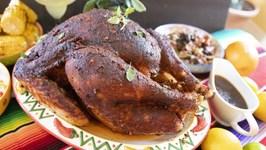 En Chile Rojo Turkey / Mexican Style Thanksgiving Roast Turkey
