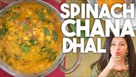 SPINACH Chana DHAL - Lentil Curry Dhal Palak