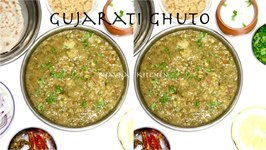 Gujarati Ghuto - Mixed Green Veggies With Lentils - Crowd Cooking