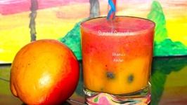 Sunset Smoothie - Mango Strawberry Slushes
