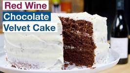 Red Wine Chocolate Velvet Cake Recipe