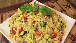 Grilled Vegetable Orzo Pasta Salad- Vegetarian