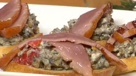 Duck and Mushroom Crostini