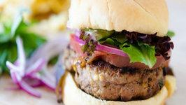 Feta Basil Turkey Burgers- Quick and Easy Dinner Idea