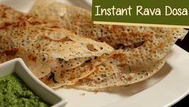 Instant Rava Dosa Recipe / Quick Semolina Dosa Recipe / South Indian Cuisine / Ruchi's Kitchen