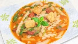 Quick Easy Pasta-Bean Stew