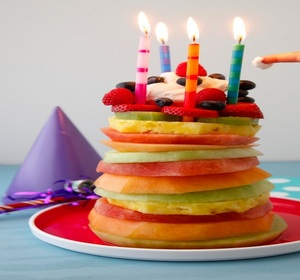 Awe Inspiring Fruit Tower Birthday Cake Easy Party Recipe Recipe Video By Funny Birthday Cards Online Inifofree Goldxyz