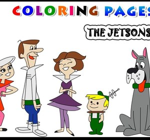 Coloring Page Of The Jetsons For Kids Learn Colors For Children - The-jetsons-coloring-pages