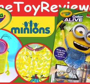 Minions Crayola Color Alive Action Coloring Pages Unboxing Toy Review Video By TheToyReviewer