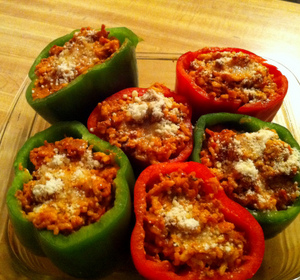 Bolognese Stuffed Bell Peppers Recipe by Albert.Coreitta ...
