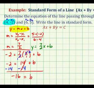 Ex 2: Find the Equation of a Line in Standard Form Given Two ...