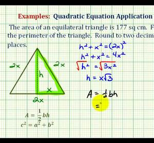 Example determine the perimeter of an equilateral triangle given ex find the perimeter of an equilateral ccuart Choice Image