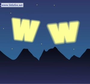 Letter W Phonics Song Video by LittleFox