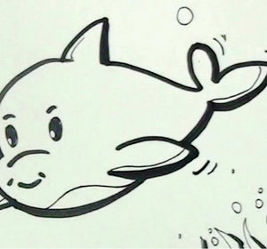 How To Draw A Dolphin Easy Step By Step Tutorial Video By Elearnin