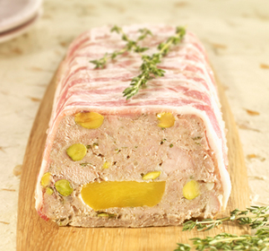 Pork nectarine and pistachio terrine recipe by south for Chicken and pork terrine with pistachio