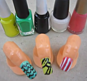 Easy Nail Design Monster High Inspired Nails Part 1 Inspired By