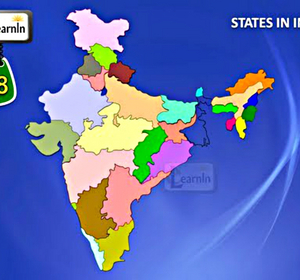 28 States of India with Map - General Knowledge for Kids