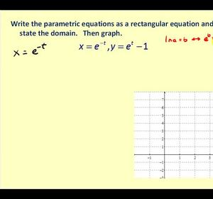Converting Parametric Equation to Rectangular Form Video by ...