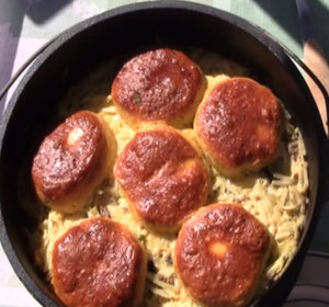 Mountain Man Breakfast With Biscuits In A Dutch Oven Recipe Video