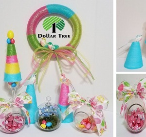 Dollar Tree Easter Themed Baby Show.