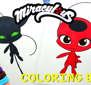 Miraculous Ladybug Coloring Book Pages Kwami Tikki Plagg Video By EviesToyHouse