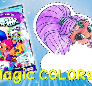 shimmer and shine color changing imagine ink rainbow marker coloring book video by eviestoyhouse fawesometv - Imagine Ink Coloring Book
