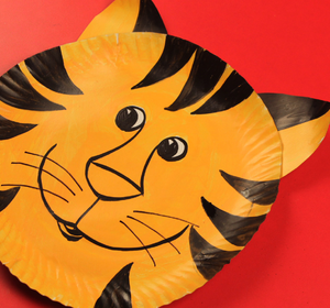 & Paper Plate Tiger Video by Happy Crafts | fawesome.tv